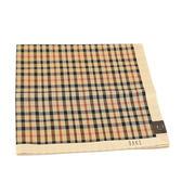 DAKS 純棉經典格紋帕巾(卡其)