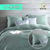 【寢室安居】吸溼排汗涼感天絲枕套床包組(單/雙/加大 多款任選)翡翠綠-雙人
