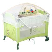 BabyBabe 拱型防夾遊戲床-全配款-果綠色(高頂蚊帳/玩具架/雙層架/尿布檯)【六甲媽咪】