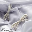 現貨 韓國美翻了氣質甜美小香風公主蝴蝶結水鑽珍珠髮夾彈簧夾 S8297 批發價 Danica 韓系飾品