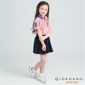 【GIORDANO】童裝勝利獅王3D刺繡短袖POLO衫(43 仿段彩薔薇粉紅)