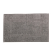 HOLA 葡萄牙純棉毛巾踏墊50x80cm方格灰