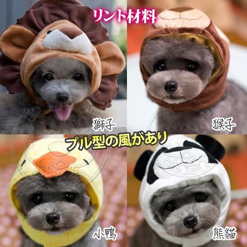 【zoo寵物商城】DYY》犬貓用寵物可愛搞怪拉風動物變身帽2-4號