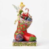 聖誕禮物《Enesco精品雕塑》迪士尼奇妙仙子聖誕襪禮物袋塑像-Stocking Stuffer(Disney Traditions)_EN92105