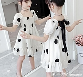 女童洋裝夏裝2021新款兒童網紅洋氣公主裙大童裝小女孩波點裙子 蘇菲小店