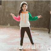 女童兩件套 2019秋裝新款兒童裝中大童休閑運動套裝洋氣童裝 YN1225『寶貝兒童裝』