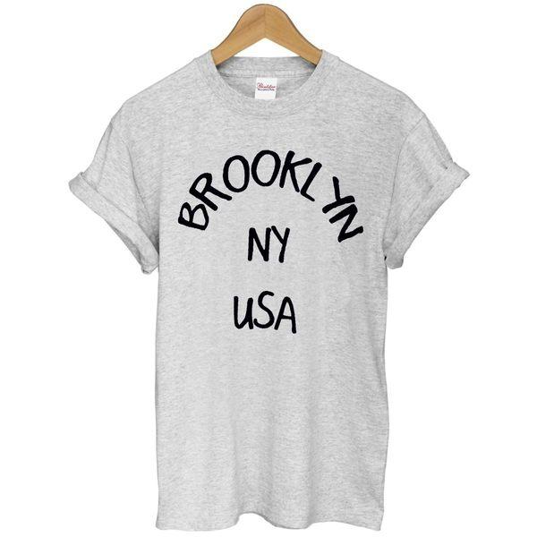 BROOKLYN NY USA短袖T恤 3色 布魯克林紐約美國街頭文化相片潮設計插畫藝術搖滾樂團音樂韓時尚文青290