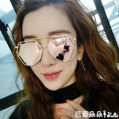 女士太陽眼鏡 2018新韓國潮女士墨鏡女太陽鏡個性司機復古圓臉眼鏡 芭蕾朵朵