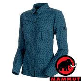 【MAMMUT 長毛象】女 Trovat Advanced 長袖 彈性襯衫-50011『冠藍鴉』1030-02560 襯衫 印花 長袖