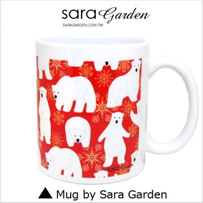 客製化 陶瓷 馬克杯 咖啡杯 手繪可愛北極熊雪花