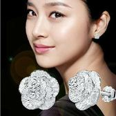 鍍銀耳釘女式浪漫優雅櫻花之戀耳釘 耳飾品日韓國版《小師妹》ps401