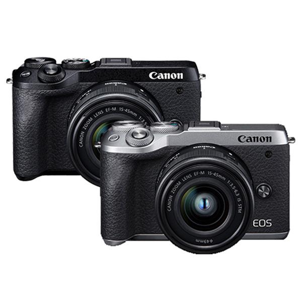 8/31前申請送原電+藍牙腳架 Canon EOS M6 Mark II +15-45mm IS STM 佳能公司貨 ((銀色/黑色)) 4K