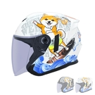 M2R柴犬安全帽FR-2#3(3/4耳罩式/內墨鏡/機車用/防護頭盔/彩繪帽)