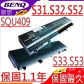 BENQ 電池-明碁 電池 S31, S32,T31,S33,S52,S53,SQU-409,ED1 SQU409,I305RH,SQU-416,3UR1865OF-2-QC163