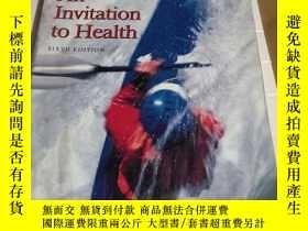 二手書博民逛書店An罕見INVITATION TO HEALTH sixth e