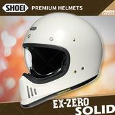 [中壢安信]日本 SHOEI EX-ZERO 素色 白色 全罩 安全帽 復古越野 山車帽 哈雷