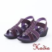 2018春夏新品kadia.舒適牛皮涼鞋(8103-60紫)