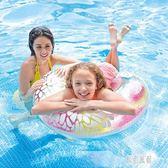 游泳圈大人游泳圈透明花色加大浮圈把手 男女游泳圈 xy5286【原創風館】