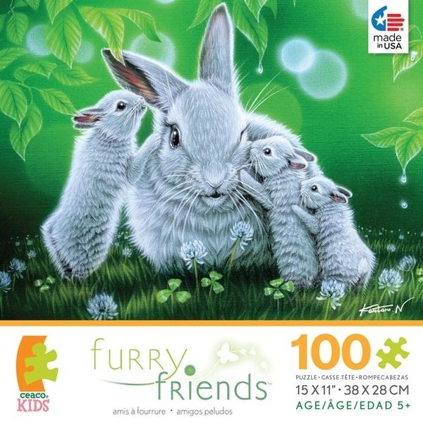 【KANGA GAMES】拼圖 毛絨絨 - 悄悄話 Furry Friends- Whisper  100片
