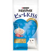 【寵物王國】MonPetit貓倍麗-Puree Kiss小鮮肉泥(鮮雞鰹魚口味)(10gx4包)