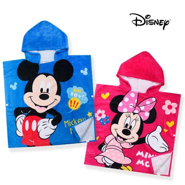 迪士尼系列兒童連帽浴巾 米奇+米妮 浴巾斗篷 浴巾 浴袍