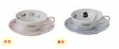 日本製小倉陶器加藤真治咖啡杯附盤餐具下午茶貓系列-達可家居