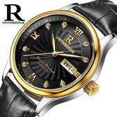 女手錶超薄防水商務真皮帶石英女錶男士腕錶情侶學生男女士男錶