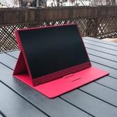 攻攝便攜式ps4k顯示器手機外接觸摸顯示屏筆記本電腦分屏超薄紅色YJT 【快速出貨】