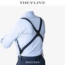 經典側夾款男士背帶 后背式背帶 2夾鴨嘴扣2.5cm寬 洛小仙女鞋