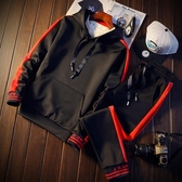 全館83折 春季男士大學T連帽運動套裝韓版潮學生秋衣服帥氣一套男裝2018新款