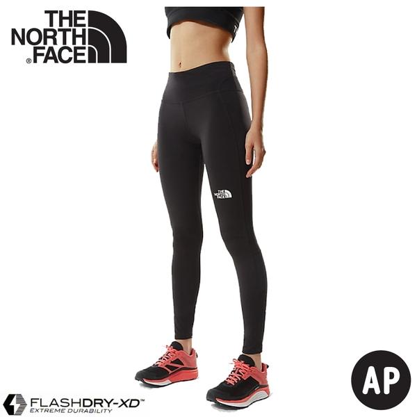 【The North Face 女 排汗透氣長褲《黑》】539D/快乾排汗/內搭褲/運動褲/休閒褲/跑步