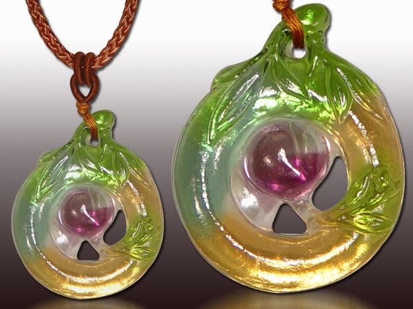 鹿港窯~居家開運水晶琉璃項鍊~萱草◆附精美包裝◆免運費送到家