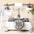 設計師美術精品館GDIDS新款歐式田園時尚仿古電話機老式復古座機家用辦公電話機