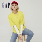Gap女裝 Logo純棉圓領短袖T恤 756195-黃色
