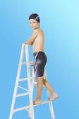 【M9230】梅林泳裝2020新品特價~男童黑色灰白點狀印字馬褲 贈泳帽