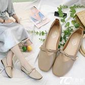 奶奶鞋女韓版百搭平底復古原宿學生2018新款夏方頭豆豆單鞋工作鞋