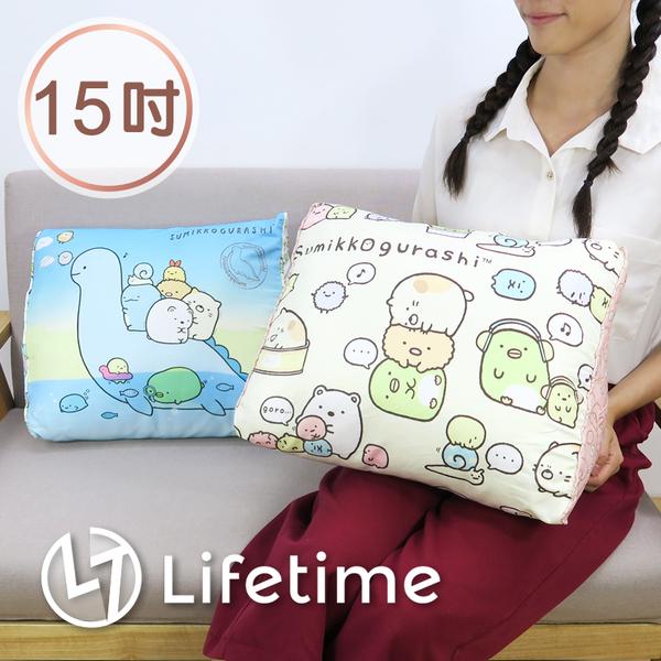 ﹝角落生物三角靠枕15吋﹞正版絨毛娃娃 沙發床頭靠墊 抬腳枕 38cm〖LifeTime一生流行館〗