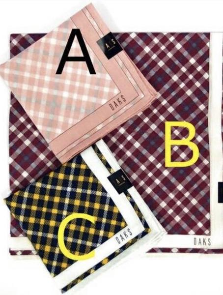 【京之物語】DAKS日本製經典斜格紋絲質女性絲巾-黃色/粉色/紫色
