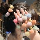 (4條一組) 撞色毛球髮繩 髮圈 髮紮 髮圈髮繩 皮筋 橘魔法 現貨 髮飾 小孩大人可用 女童 髮圈