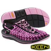 Keen UNEEK 8MM ROCK 女 編織款拉繩涼鞋 紫/黑 1014637