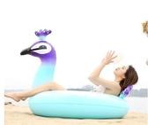 ins火烈鳥游泳圈 成人加厚充氣水上坐騎 可愛加大大人女腋下圈