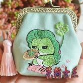 手工刺繡材料包 小青蛙口金包呱兒子零錢包自制成人 BF14847【花貓女王】