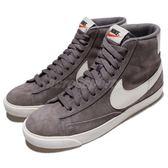 Nike 休閒鞋 Wmns Blazer Mid VNTG Suede 灰 米白 麂皮鞋面材質 中筒 運動鞋 女鞋【PUMP306】 917862-004