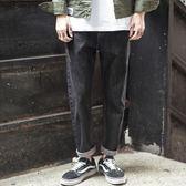 牛仔褲 長褲子男加肥加大碼青年寬鬆小腳哈倫潮流胖秋季日系黑灰色 High酷樂緹