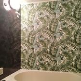 浴室防水貼紙 自粘壁貼 廚房壁貼 自粘壁紙 綠色植物【進口壁貼】NU WALLPAPER NU2906