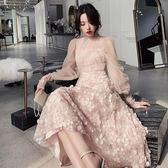 仙氣裙生日派對連衣裙名媛洋裝小禮服平時可穿宴會晚禮服仙女系秋 初心家居