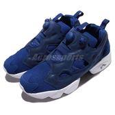 Reebok Insta Pump Fury Tech 藍 白 反光設計 男鞋 休閒鞋 充氣 運動鞋【PUMP306】 BS5382