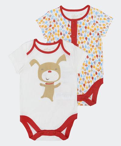 Hallmark Babies 熱氣球短袖包屁衣 (兩件裝) HD1-A06-02-BU-PR