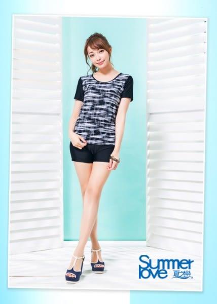 【夏之戀SUMMERLOVE】加大碼大女短袖長版二件式泳衣-S17725