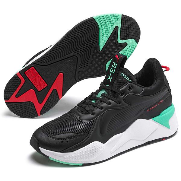 PUMA RS-X MASTER 男鞋 女鞋 休閒 復古 透氣 黑 綠【運動世界】37187001